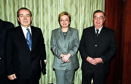 с Президентом РСПП А.Вольским и Президент ТПП РФ Е.М. Примаковым