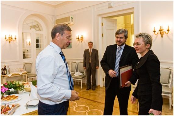 встреча с бизнесменом Евтушеенковым В.П.