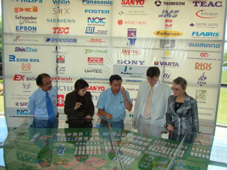 посещения индустриальног парка на острове Батам
