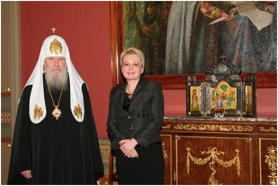 с Его святейшеством, Патриархом Московским и всея Руси Алексием II