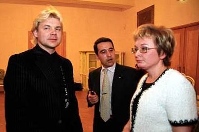 с Заслуженным артистом России Андрисом Лиепой