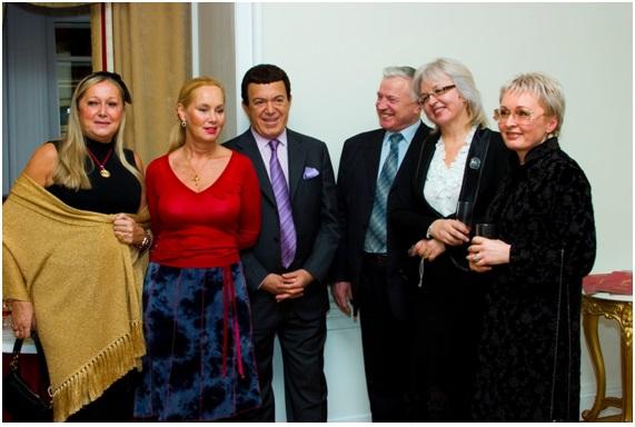 с Народным артистом СССР И.Д, Кобзоном и его супругой