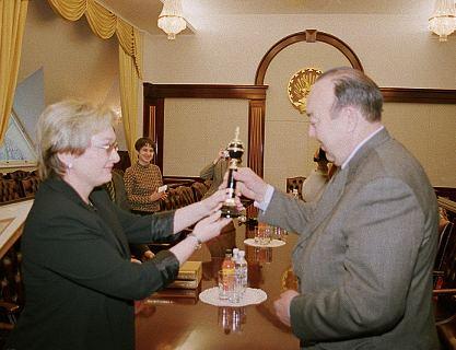 с Президентом Республики Башкортостан Муртазой Рахимовым