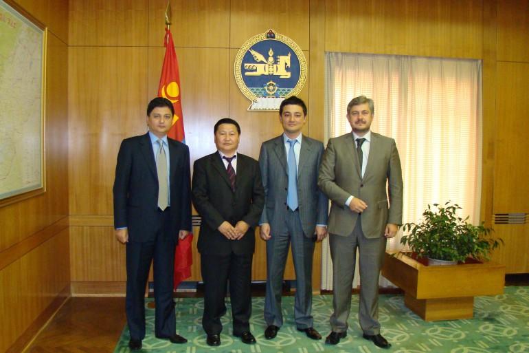 с Премьер министром республики Монголия г-ном Н. Алтанхуягом