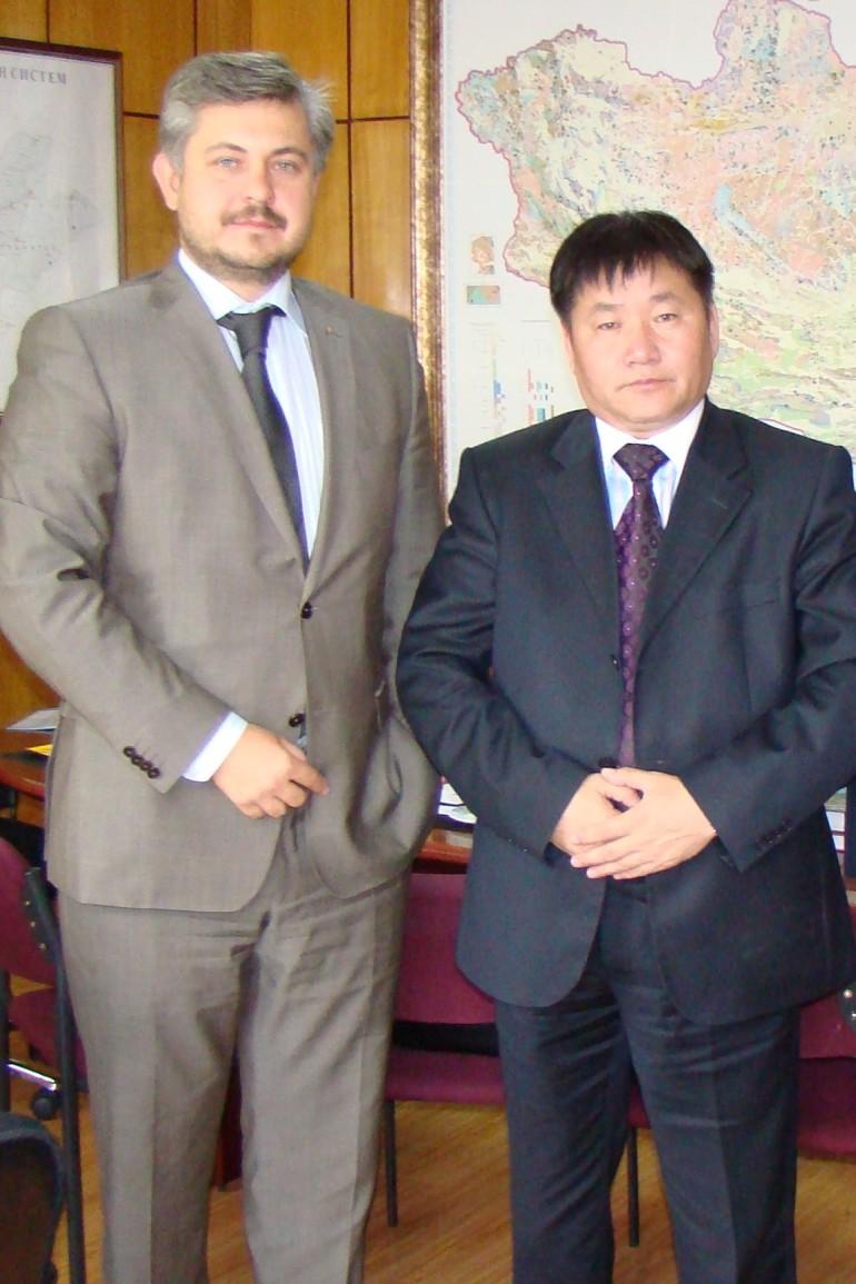 с г-ном Даждорыном Зоргтом, Министром полезных ископаемых и энергетики республики Монголия