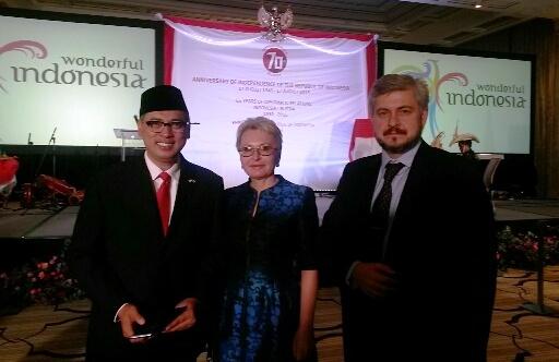 На дипломатическом приеме, посвященном празднованию Дня независимости Республики  Индонезия, 17 сентября 2015 г., Four Seasons Moscow.